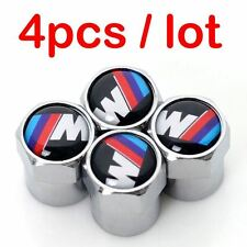BMW Cap M-Series M Power Car Silver Wheel Tire Tyre Valve Metal Air Anti-Theft 4