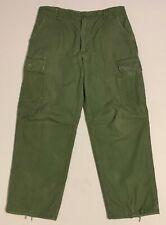 Original 1969 Cotton Poplin Rip-Stop Tropical Jungle OG-107 Trousers, Med Reg