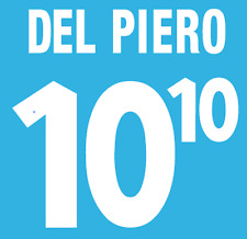 ITALIA DEL PIERO NAMESET 2000 SHIRT CALCIO Numero Lettera di calore stampa Football Home