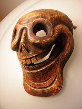 Holz schädel Maske aus Nepal(wooden skull Mask )