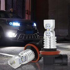 AUXITO 3000lm H16 Super Bright 6000K White 2020-SMD LED Fog Light bulbs 4M