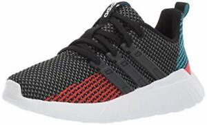 adidas Kids' Questar Flow Cloudfoam Running Shoes, Black/Grey/Active Red, Size