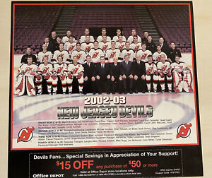 2002-03 NJ Devils Team Picture Martin Brodeur Scott Stevens