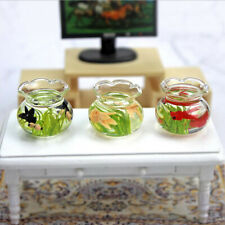 Dollhouse Miniature Glass Fish Tank Bowl Aquarium Doll House Home Ornament Toy