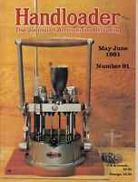 HANDLOADER THE JOURNAL OF AMMUNITION RELOADING MAGAZINE MAY JUNE 1981 GUN AD