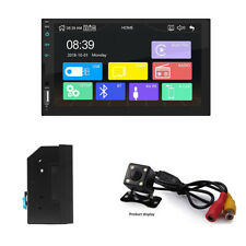 12V Stereo Radio Touch Screen MP5 Player Kits w/4LED Rearview Camera Fit For Car