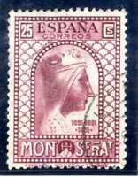 Sello de España 1931 nº 642  Fundacion Monasterio Montserrat matasellado