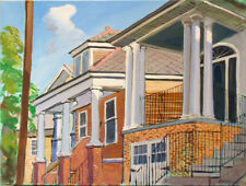 "TIM LAUER, ART, Marigny Street Scene, New Orleans, acrylic, 18"" x 24"""