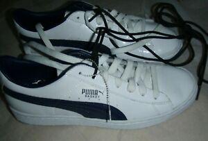 Puma Basket Classic blue/white Shoes Men's 6.5 NWOT DISC
