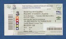 Orig.Ticket     WM Qualifikation 26.03.2013   IRLAND - ÖSTERREICH  !!  SELTEN