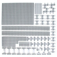 Lego 164x Genuine Technic Medium Stone Grey Studless Beams Liftarms Bricks - NEW