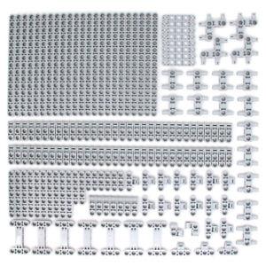 Lego 164x Genuine Technic Medium Stone Grey Studless Beams Liftarms Bricks - NEW