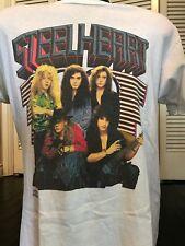 Rare VTG 91 Steel Heart Tour Shirt Sz L/XL Extreme Poison Rock Crue Metal Dokken