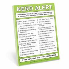 Knock Knock Nifty Note - Nerd Alert