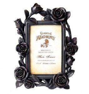 Alchemy England - Rose & Vine Photo Frame Black Gothic Flowers Floral Decor Gift