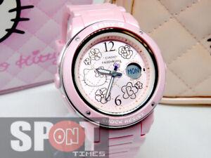 """Casio Baby-G x Hello Kitty """"pink quilt"""" motif Ladies Watch BGA-150KT-4B"""