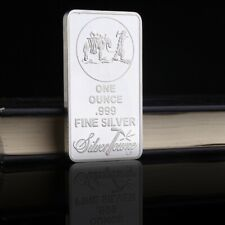 Silver Color Alloy Commemorative Coin Simulation 999 Silver Bar Alloy Silver