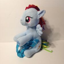 My Little Pony Rainbow Dash Blue Plush Character Backpack Bag Adjustable Straps