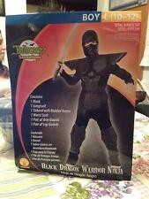 Rubie's 887937 Boys Black Dragon Warrior Ninja Costume 10-12 8 Piece Set New