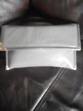 Ladies Vintage Grey Leather Clutch Bag, Jane Shilton London