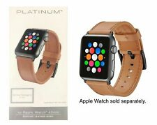 Platinum Leather Watch Strap for Apple Watch 44mm Apple Watch 42mm Old Saddle