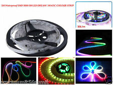 5M 5050 RGB DREAM MAGIC RUNNING WATERPROOF LED STRIP AUTO CHANGE + Free Adapter