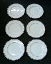 "6-Wedgewood PALATIA R4700 10-3/4"" Bone China Dinner Plates -Blue/Gold Greek Key"