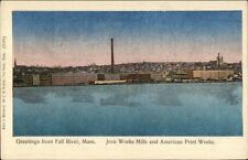 Fall River MA c1910 Postcard #15 Iron Works & American Print Works