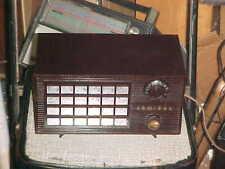 ANTIQUE RADIO ADMIRAL BAKELITE 1940s 5R32N EGG CRATE GRILL