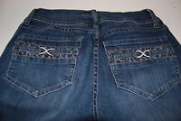 Women's Cache Jeans Boot Cut Embellished Size 4 x 32 Medium wash
