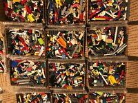 Bulk LEGO Lot! 5 lbs w/ 3 Minifigs. Bricks, Wheels, Windows + more! Ships FREE!
