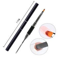 Dual Ended Gum Gel / Builder Gel Spatula Drawing UV Gel Brush Nail Art Tool 17cm