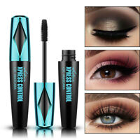 QIC 4D Silk Fiber Eyelash Mascara Extension Makeup Waterproof Eye Lashes Black