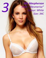 NWT Elle MacPherson MESMERISE Bra White & Nude 34C