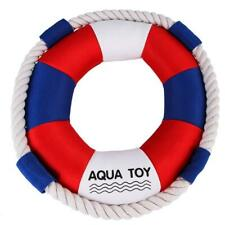 Pet Dog Puppy Swimming Ring Chew Toy Squeaker Squeaky Soft Plush Play Sound Toy