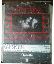 Poster originale Litfiba Yassassin Tour 84-85 Cm. 95 X 68 Concerto al Capsicum!