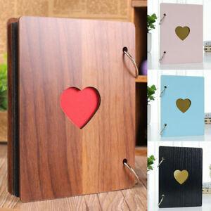 Wooden Photo Album Our Adventure Book DIY Memory Anniversary Scrapbook Travel