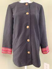 Susan Graver Rib Knit Jacket with Cuff Detail - Black/Red Trim & Lining - Reg 6