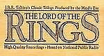 The Lord of the Rings J. R. R. Tolkien (Cassette Abridged) Audiobook Wood Box