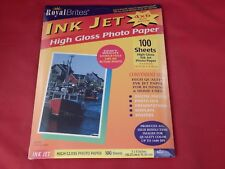 "Royal Brites Ink Jet High Gloss Photo Paper 4"" x 6"" Format 100 Sheets"