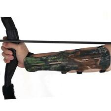 Leather IRQ Archery Camo Arm Guard Protective Gear 4 Straps Hunting Shooting Bow