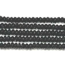 Onyx Faceted Rondelle Beads 5x8mm Black 70+ Pcs Gemstones DIY Jewellery Making