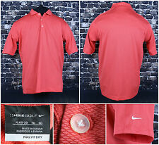 Nike Golf Fit Dry S/S Shirt Size XL 18-20 Red Premium Button Top Side Check Logo