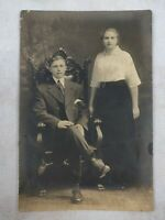 "Vintage Black & White Photo Picture of a Couple 4""x6"""