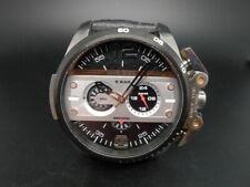 New Old Stock DIESEL Ironside DZ4361 Chronograph Leather Strap Quartz Men Watch