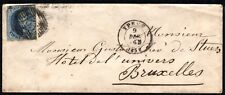 Belgium Sc# 2 Used Stamp Postage Cover Ypres 1859 Bruxelles