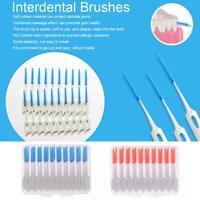 80pcs Interdental Brush Soft Rubber Teeth Clean Floss Pick Dental Oral Care Tool
