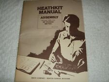 NOS ORIGINAL HEATHKIT ASSEMBLY MANUAL FOR UNBUILT MODEL HM-102 RF POWER METER