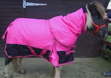 """MINI/SHETLAND/ PONY HOT PINK 1200D 100GM FILL TURNOUT RUG with neck 3'0"""" - 4'3"""""""