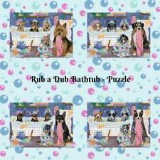 Rub a Dub Dogs Cats in a Tub Jigsaw Puzzle, Pet Photo Lovers Gift